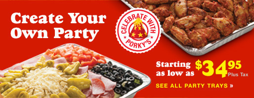 Create a party platter. Starting as low as $34.95. Click to see all party trays.